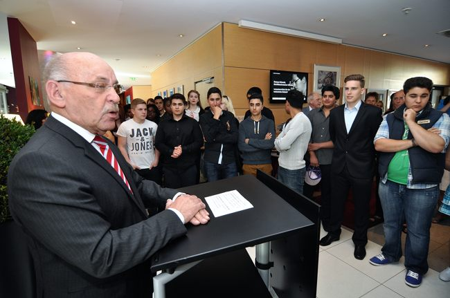 Bürgermeister Rudolf Jelinek aus Essenbei der Eröffnungsrede