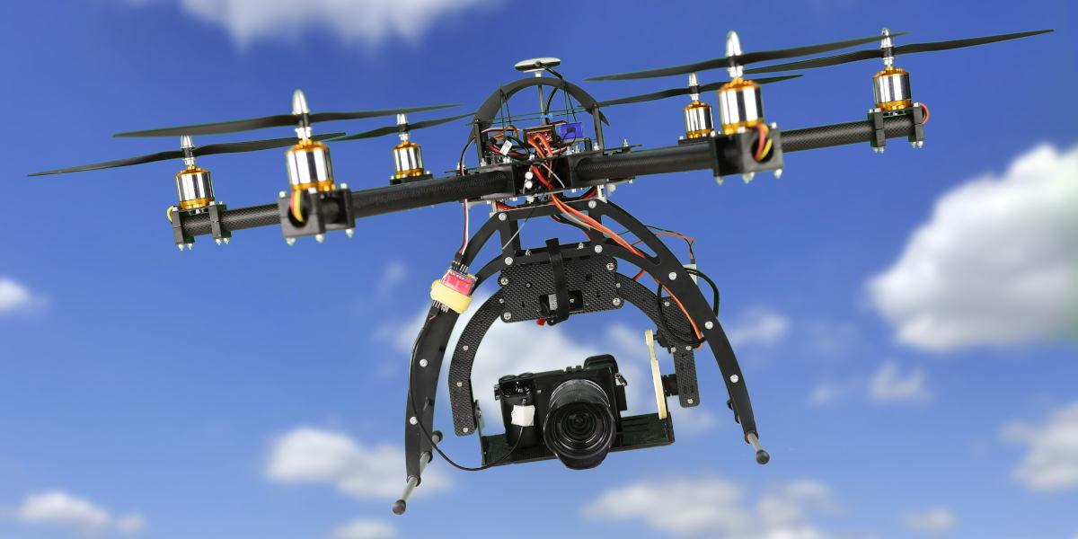 Multicopter im Flug